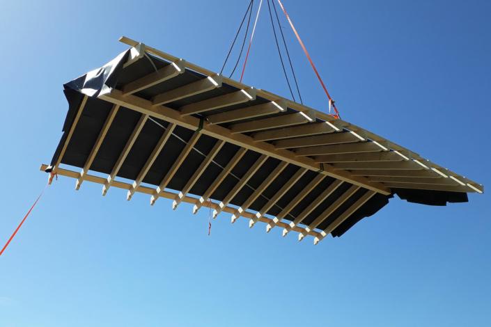 Präzise Dach-Konstruktion